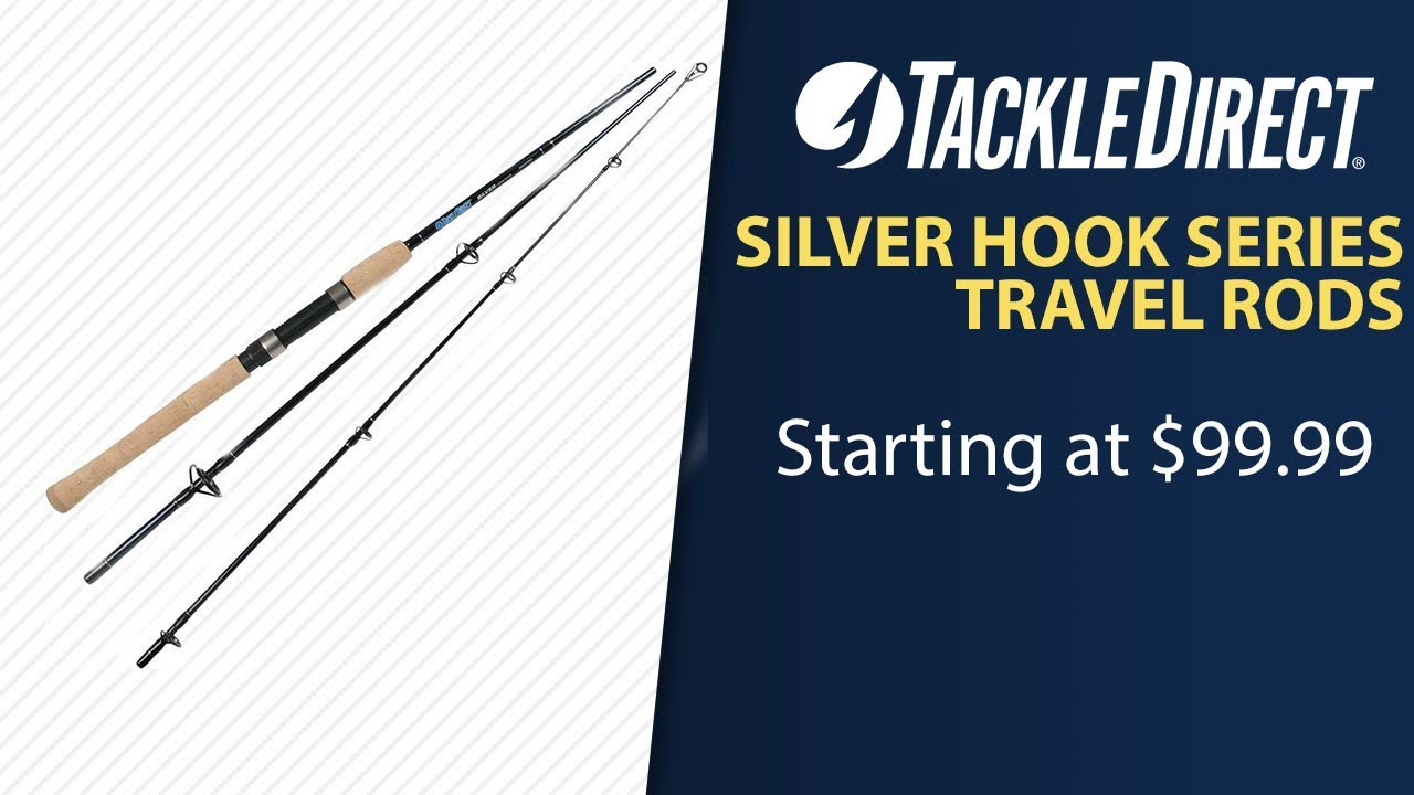 25f745fb759 TackleDirect Silver Hook Inshore Travel Rods at TackleDirect - YouTube