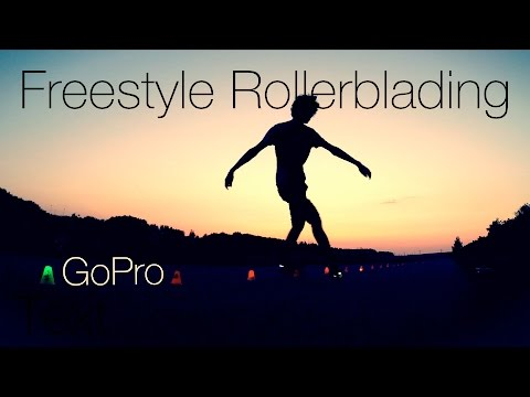 Freestyle rollerblading day & night 🌞🌜