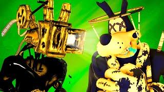 Cartoon Dog vs Bendy 3: Projectionist (Bob Animation BATIM Ink Machine 3D)