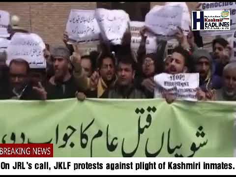JRL's call, JKLF protests against plight of Kashmiri inmates Srinagar,
