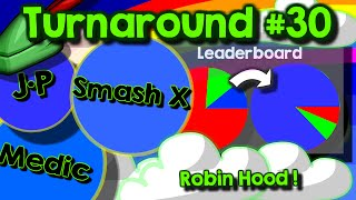 Agario // Team mode turnaround #30 // Playing as Robin Hood with Medic, Smash, Blackfyre & Guess who