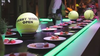 Lunch event catering on a conveyor belt at Gerry Weber Open event, Halle | Pre-Motion