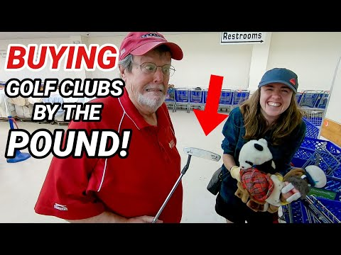 Buying GOLF CLUBS By The POUND AT GOODWILL!! (Surprising!!)