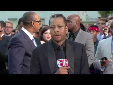 Allen Iverson Interview at the HOF, Isiah Thomas on AI (2016)