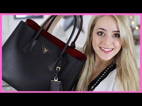 What's in my Bag?! (+Prada 'Double Bag' Review!) | Fleur De Force