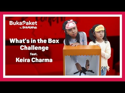 What's in the Box Challenge Kids Edition feat. Keira Charma | BukaPaket for Kids