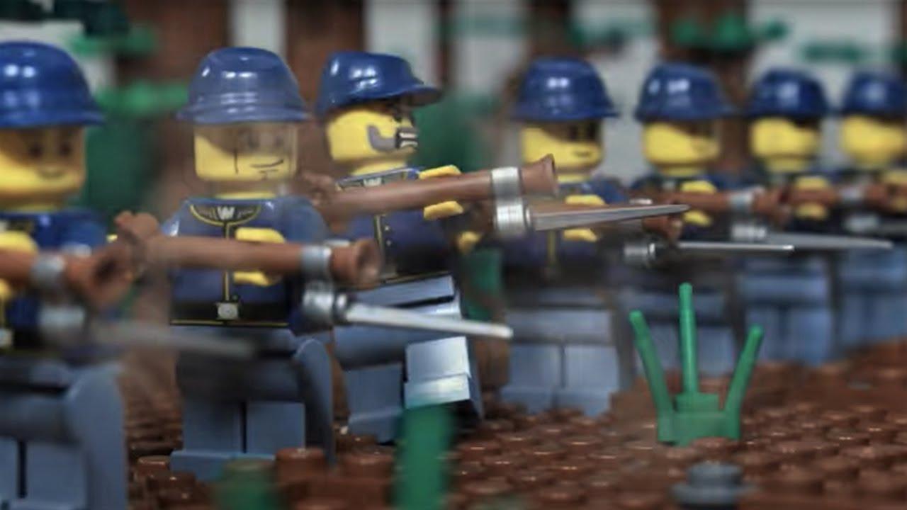 Lego Battle of Shiloh - American Civil War stop motion