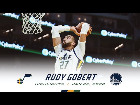 [Highlights] Rudy Gobert—22 points, 15 rebounds, 3 blocks