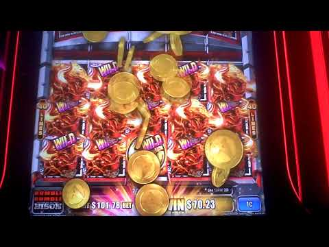 Bison Ruble Ruble Slot Machine Full Screen NICE WIN Line Hit