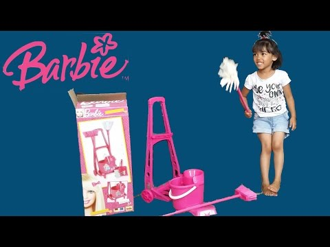 Barbie Cleaning Trolley In Pink | Kids Surprise Toy & Unboxing | Play & Review By Kids
