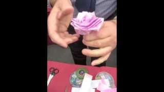 Craft Ideas - How to Make Ribbon Roses - Jamie Malden(Sign up for our Colouricious Club - free weekly online textile art ideas and inspiration. http://colouricious.com/textiles-ideas-blogs-colouricious-club/ ..., 2011-03-11T14:52:29.000Z)