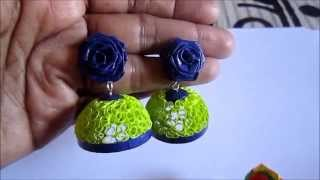 Free Form Quilling - Paper Quilling Jhumka (Not Tutorial)