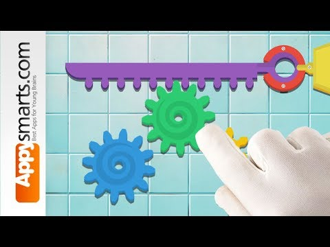Educational Puzzle Game for Kids: Crazy Gears - iPad app demo