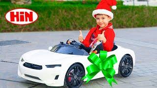 आर्टेम अनबॉक्सिंग और बच्चों के लिए नई टॉय कार असेंबल करना