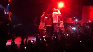 j cole joins kendrick lamar big sean on stage at the key club