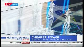 Cost of electricity goes down by Kshs. 2.50