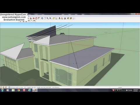 Complex Hipped Roof Construction in Sketchup