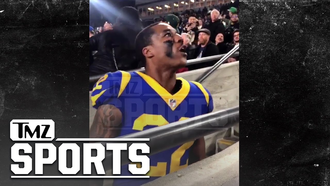 best service 30756 be0cf Rams' Marcus Peters confronts heckling fan in stands (video ...