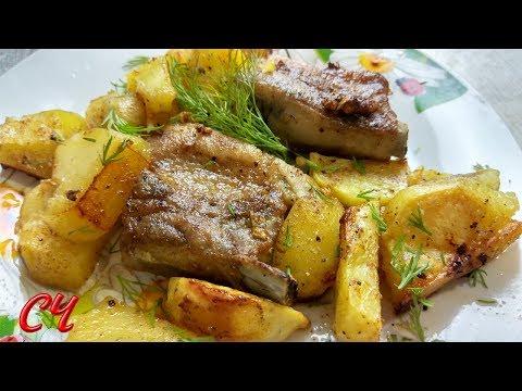 Как вкусно приготовить свиные ребрышки в духовке с картошкой