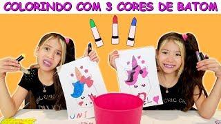 COLORINDO COM 3 CORES DE BATOM