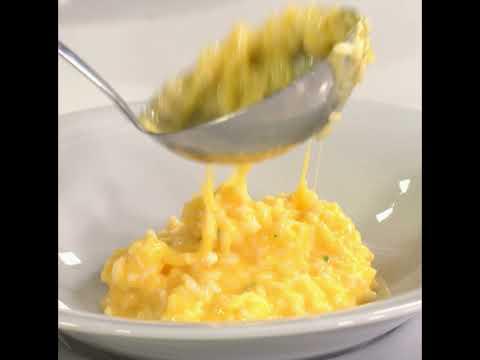 Risotto prosciutto, melone e mozzarella