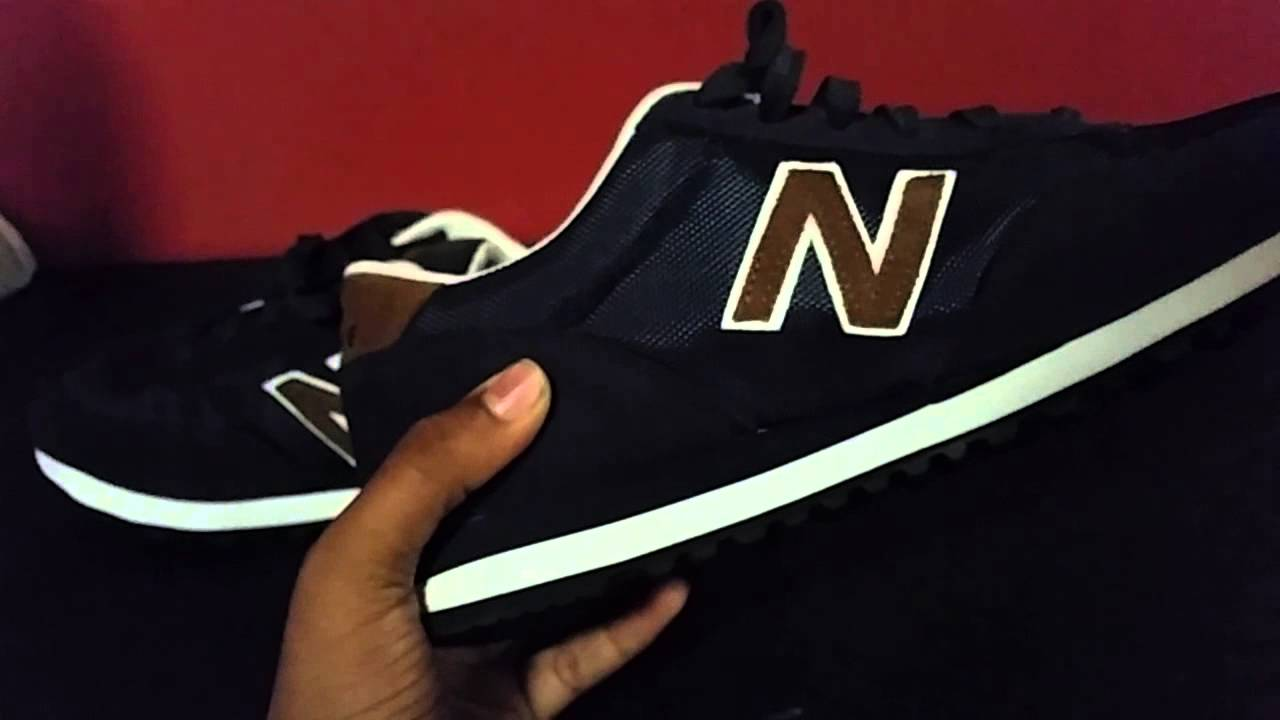 new balance 501 navy brown