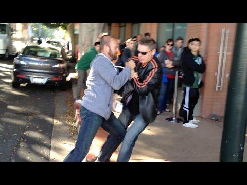 Customer Drops New iPhone 7 (Fight & Breaks!)