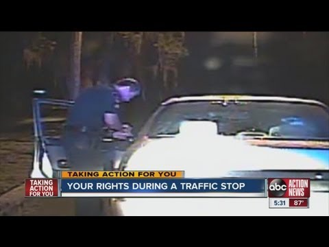Your rights during a traffic stop