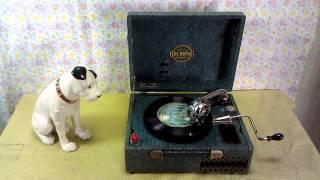 「GOLDRING ポータブル蓄音機」 童謡「お山の細道」