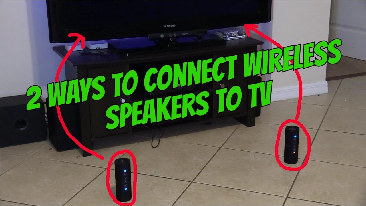 How to connect wireless speaker to my samsung tv