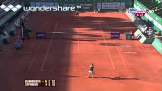 Lucie Safarova vs. Magdalena Rybarikova - 2014 Oeiras highlights