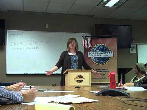 Fair Weather Toastmaster---Tracy Hinojosa---Jan 6th 2016