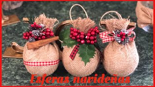 DIY//Cómo hacer esferas navideñas 🎄
