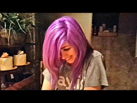 Is this girl's purple hair the new #TheDress?