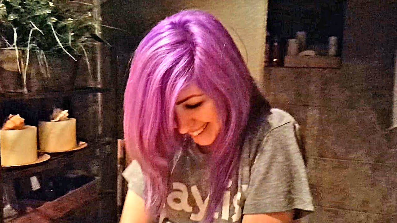 Color Changing Hair Is It Blue Purple Violet Or Pink Youtube