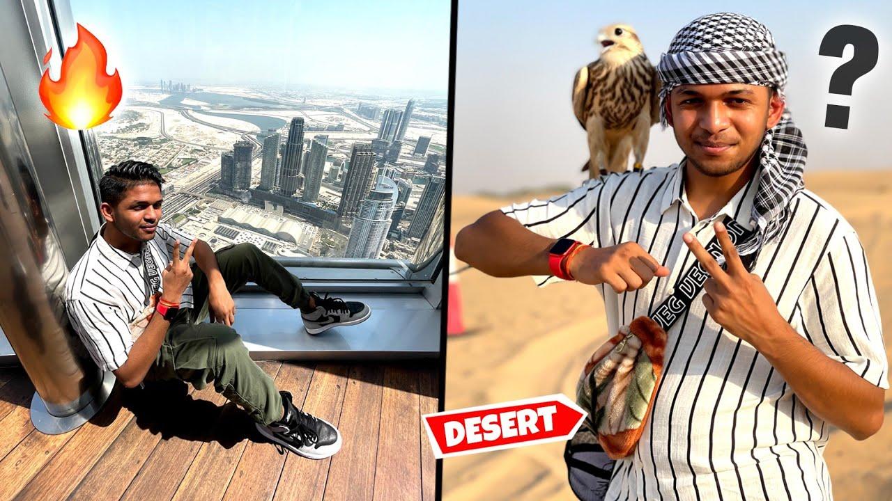 Download Visiting Burj Khalifa And Desert Safari |Day1InDubai With @Round2hell