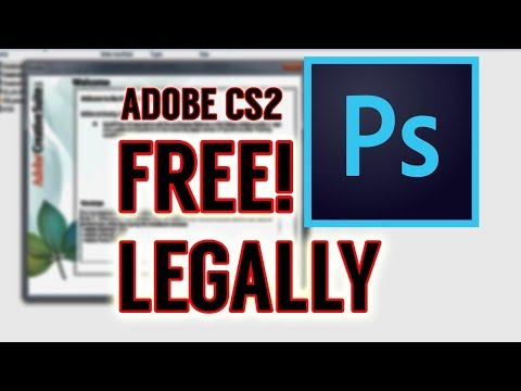 How To Get Photoshop For FREE, LEGALLY (and Other Adobe CS2 Products)
