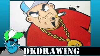 How to draw my new graffiti character Part 10