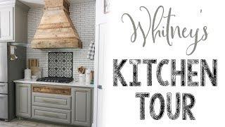 Whitney's Modern Farmhouse Kitchen Tour!