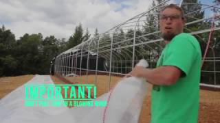 Pull and Wiggle - How to secure clear poly tarps onto your Greenhouse Structure