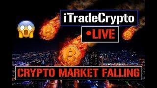 Crypto Market DROPS 🔴 LIVE | Bitcoin