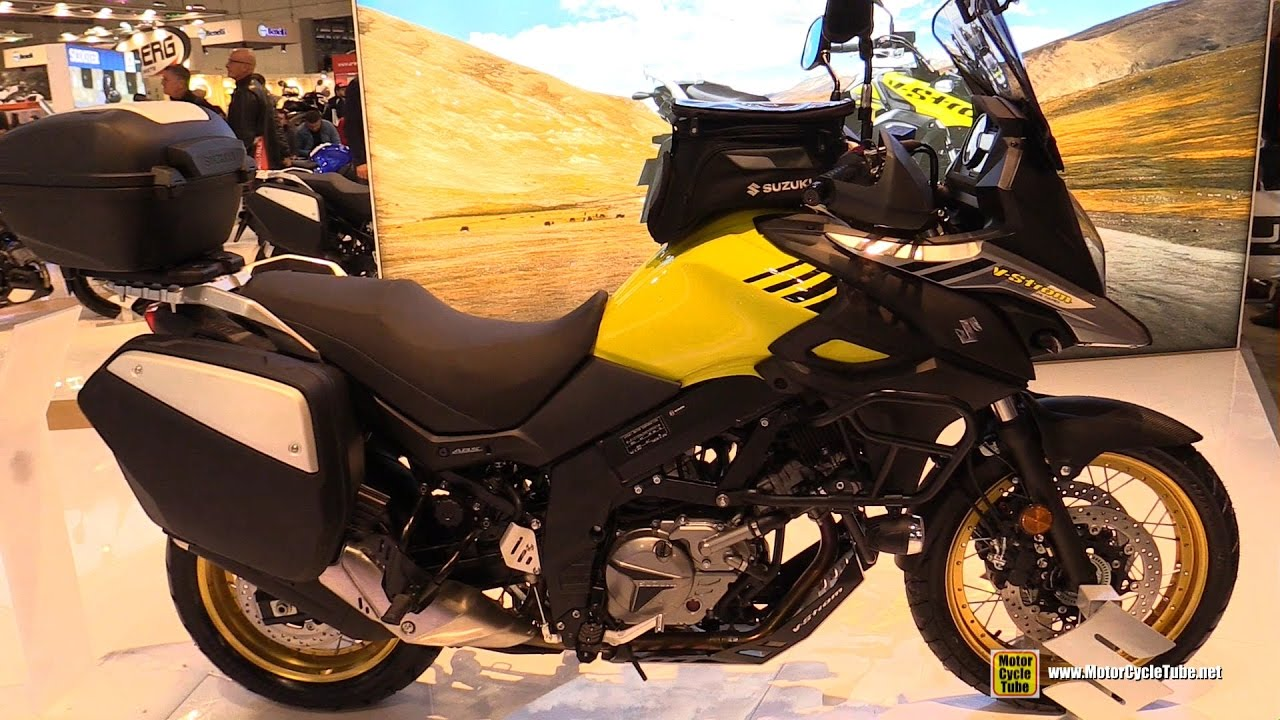 2017 suzuki v strom 650 xt acccessorized walkaround 2016 eicma milan youtube. Black Bedroom Furniture Sets. Home Design Ideas
