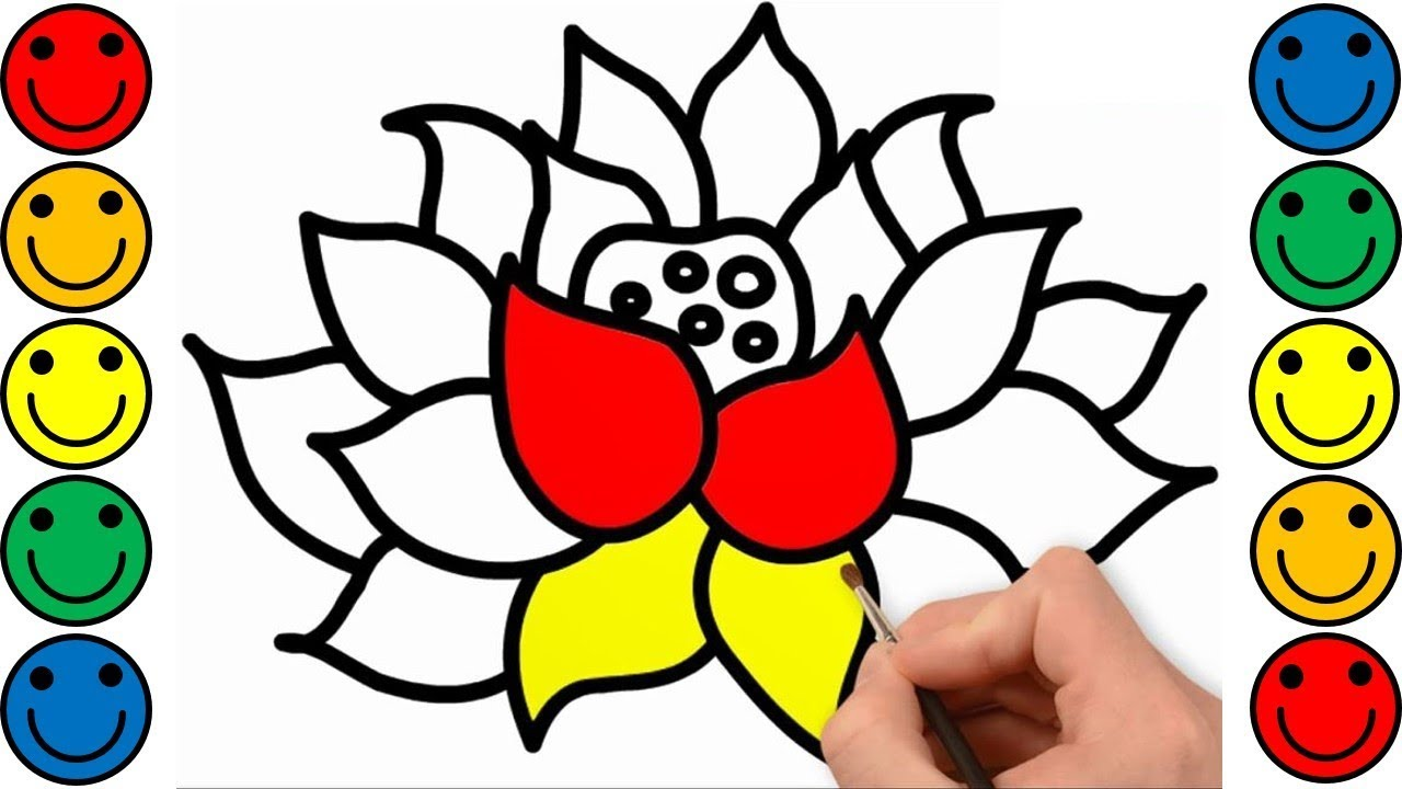 How to Draw Flower for Kids| Flower Drawing & Coloring for Kids ...