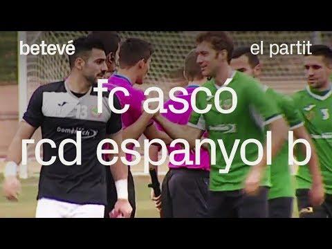 El partit:  FC Ascó - RCD Espanyol B - betevé