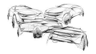 자동차 스케치 & 디자인( How to car sketch(CUV) )