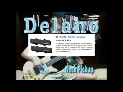 Delano Bass Pickup - JC4 HE/M2 & MC4 HE/S  (High End Series)