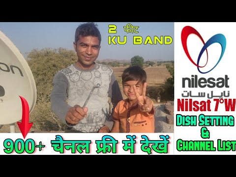 Nilesat 201 & Eutelsat 7 West A at 7.0°W -Complete Dish Settings and Full Channel List