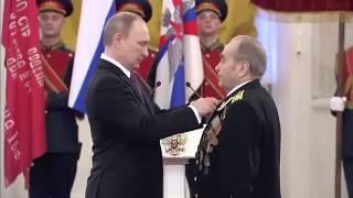 В Путин  вручение медалей ветеранам Великой Отечественной войны 20 02 2015