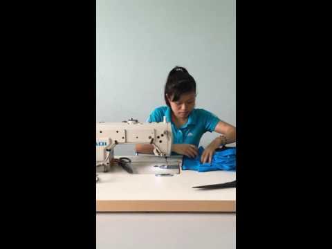 NGUYEN THI THANH HUYENさんの縫製作業ビデオ