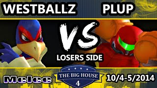 TBH4 - Westballz (Falco) Vs. VS | Plup (Samus) SSBM Losers Bracket - Smash Bros. Melee